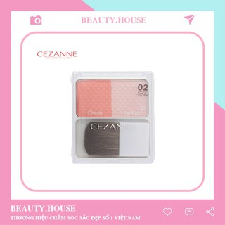 Phấn má - Cezanne - Cheek & Highlight - 4gr thumbnail