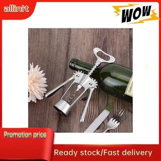 Allinit Multifunction Zinc Alloy Red Wine Beer Bottle Opener Corkscrew Cork Puller Remover Home Bar Tool