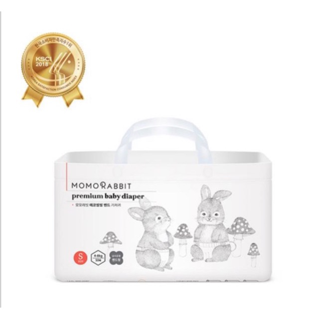 [HCM - SẴN] Bỉm dán Momo Rabbit size S M L 50 44 40