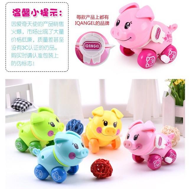 Đồ chơi vặn cót hình con Heo IQAngel,đồ chơi cho bé,đồ chơi trẻ nhỏ,đồ chơi dễ thương