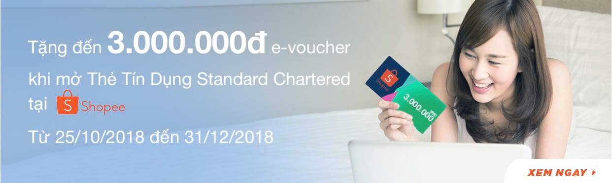 Standard Chartered mở thẻ