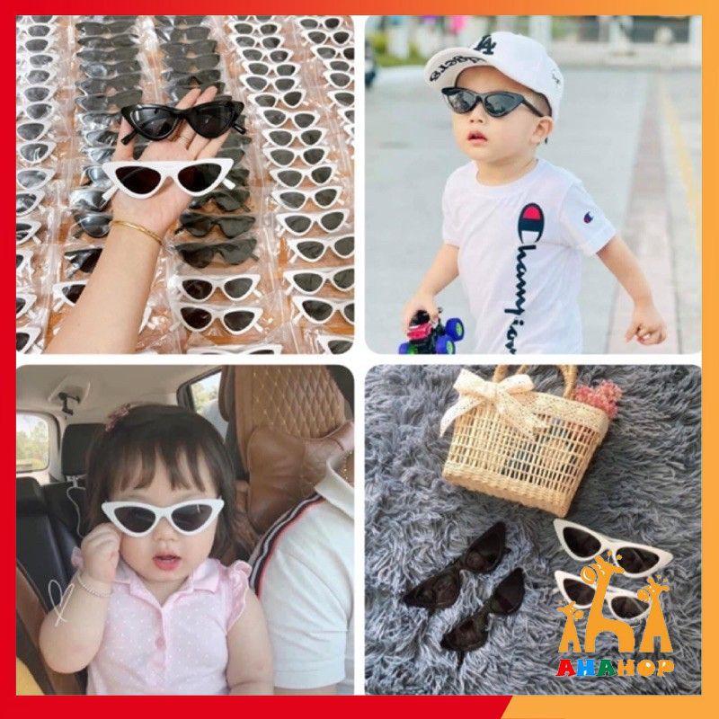 Kính mắt cho bé – Kính râm Mắt Mèo mùa hè cho bé 1-6 tuổi chống tia UV gọng dẻo phong cách Hàn Quốc KM07