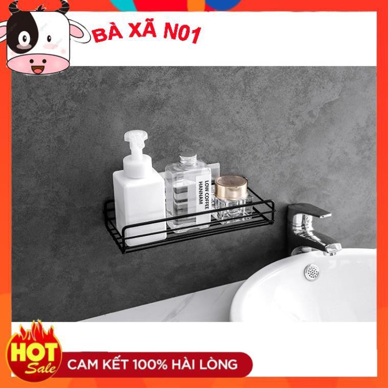 Kệ sắt chữ nhật để đồ nhà tắm dính tường trang trí đa năng