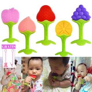 1Pcs Teether Toy Bite Baby Shape Fruit Growth Baby Chewing Exercises For Babies