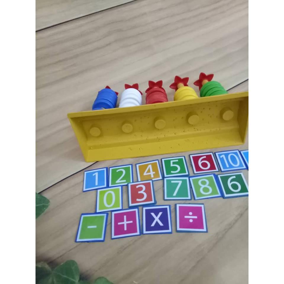 Bàn tính học đếm- giúp bé tập tính, nhận biết màu sắc và con số