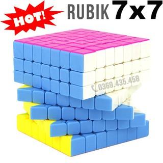 Rubik 7×7 đẹp xoay trơn không kẹt rít độ bền cao. Đồ chơi Rubik 7x7x7 MF7 7×7 Stickerless 7 tầng Cube