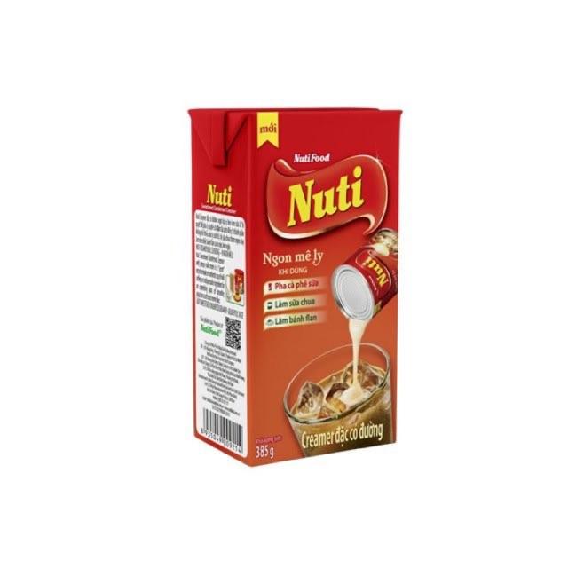 Sữa đặc có đường Nuti hộp giấy 385gr