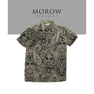 Áo sơ mi nam họa tiết ngắn tay MOROW A011