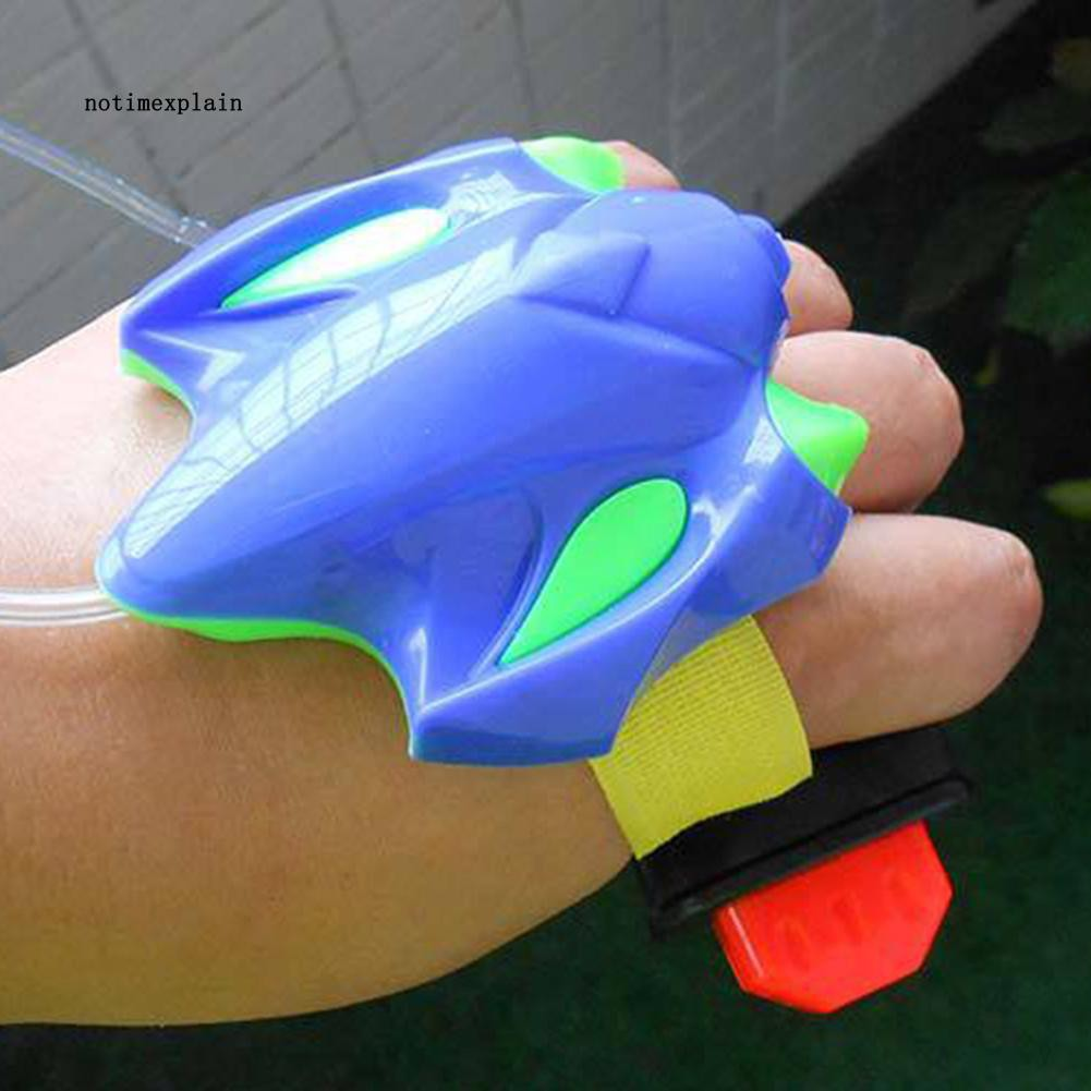 NAME Summer Beach Outdoor Sports Children Wrist Fight Water Blaster Gun Bath Toy