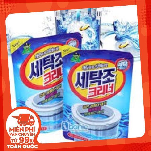 Bộ 2 Gói bột tẩy vệ sinh lồng máy giặt 450g cao cấp sạch bóng