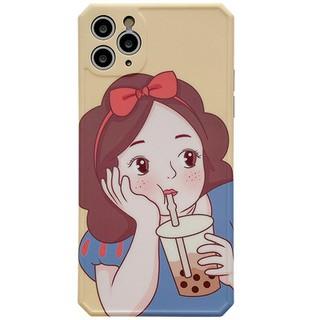 Ytin công chúa trà sữa áp dụng cho vỏ điện thoại di động 11Pro/Max Apple X/XS/XR iPhone7p Silicone 8plus nữ SE sáng tạo