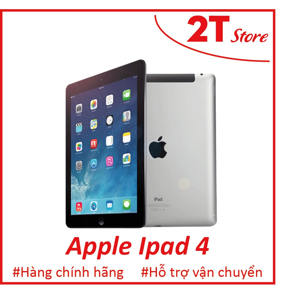 🎁 Máy tính bảng Apple Ipad 4 Fullbox màn 2K (Wifi+4G)