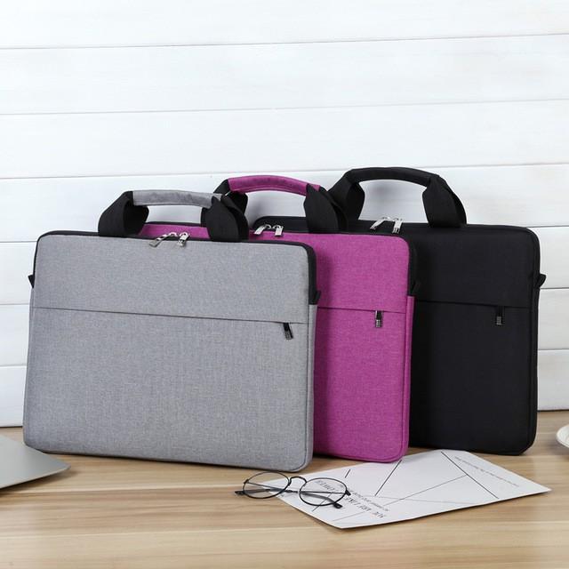 Laptop Bag Waterproof Notebook Bag Surface Pro Macbook Air Pro 13.3 14 15 15.6 Computer Shoulder Handbag Briefcase Bag