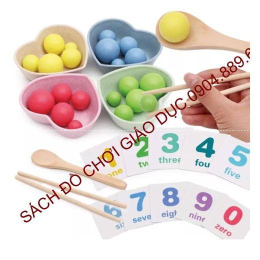 Bộ đồ chơi tập gắp, tập xúc cho bé - Kỹ năng vận động tinh