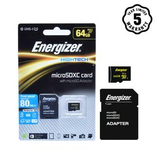Thẻ nhớ micro SDXC 64GB Energizer Class10 UHS-I - 80 MB s - FMDAAH064A thumbnail