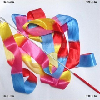 PEACELLOW 4m Kids Dance Ribbon Gym Rhythmic Art Gymnastic Ballet Streamer Twirling Rod