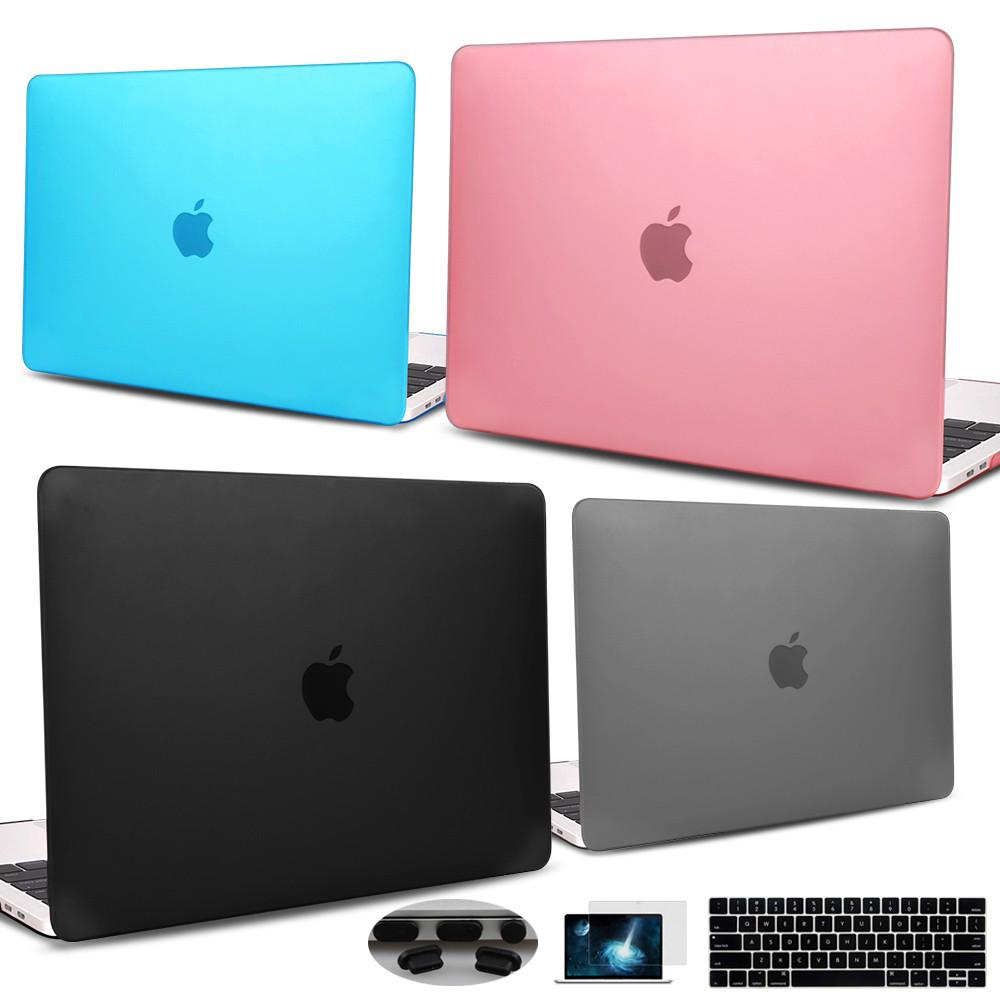 For Apple Macbook Air Pro Retina 11 12 13 15 16 Case Mac Cover A2159 A1932 with Keyboard Skin Dust Plug Screen Protector