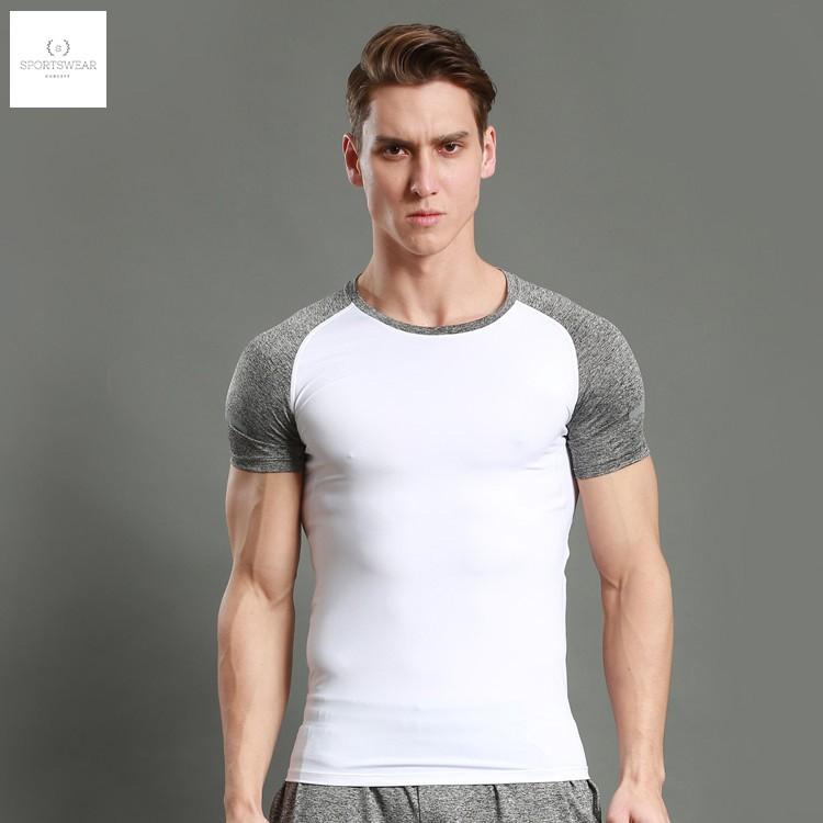 Áo thể thao tay ngắn tập gym phối màu - Màu sắc: đen, trắng (quần áo tập gym, thể thao Sportswear Concept)