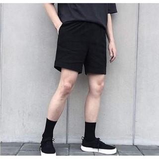 Quần Short Kaki nam nữ Đen Unisex form ngắn trên gối