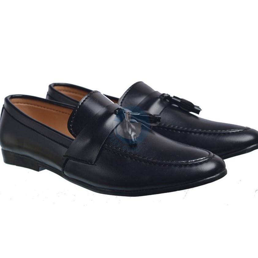Giày lười nam verygood dây chuông MS5 ( màu đen)