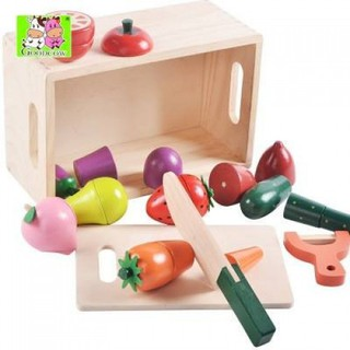 Bộ căt hoa quả bằng gỗ 093