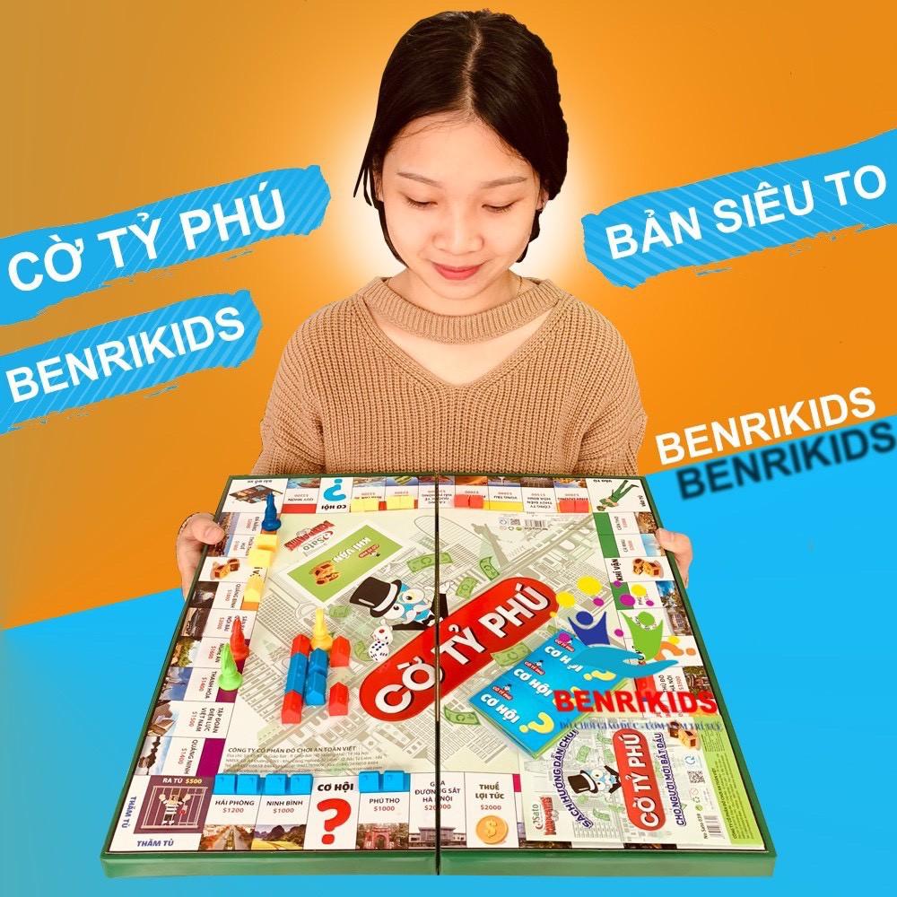Board Game Cờ Tỷ Phú Sato M2 Học Làm Giàu Kèm Hộp Đựng Tiện Lợi Hàng VN