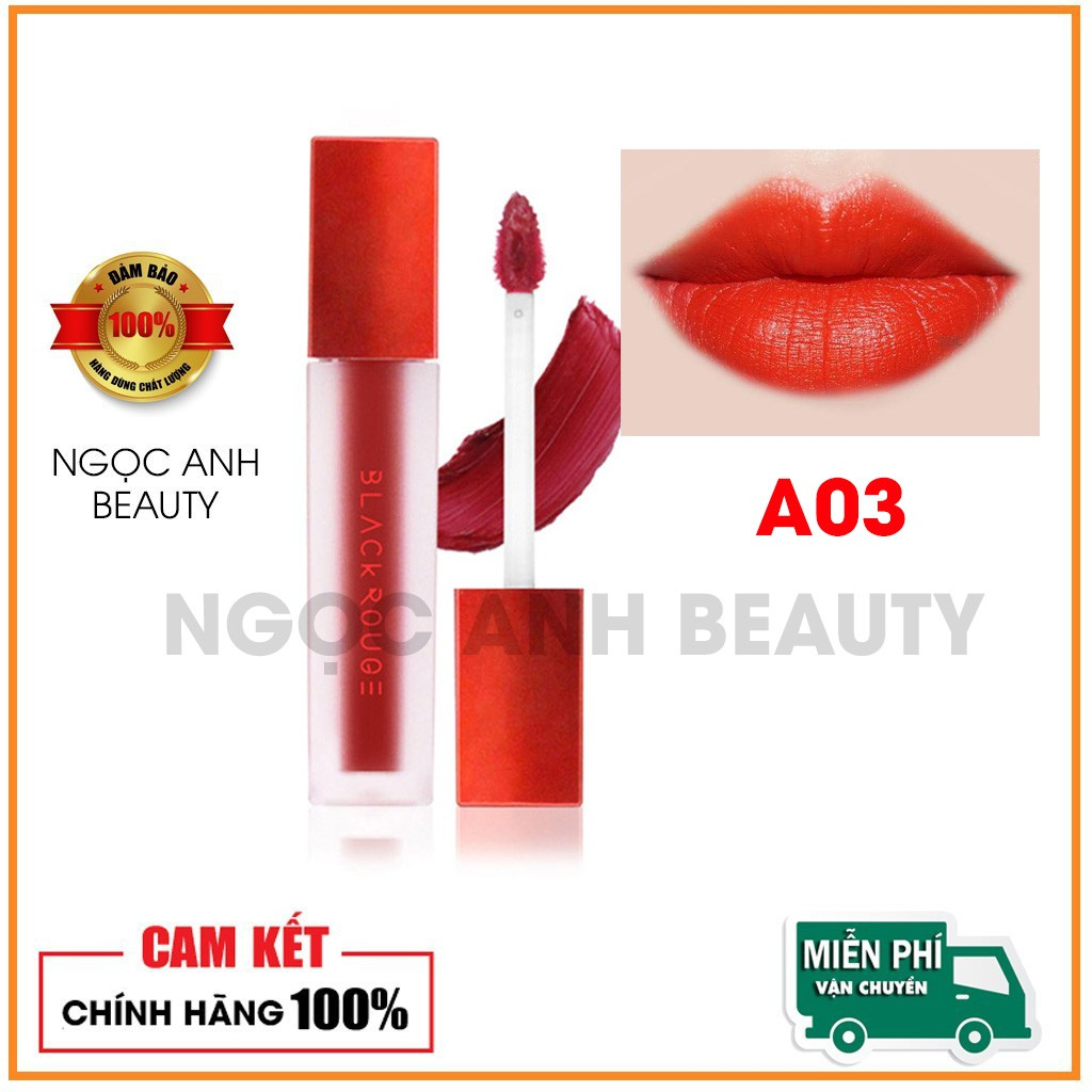 Son Kem Lì Black Rouge Air Fit Velvet Tint A03 Đỏ Cam