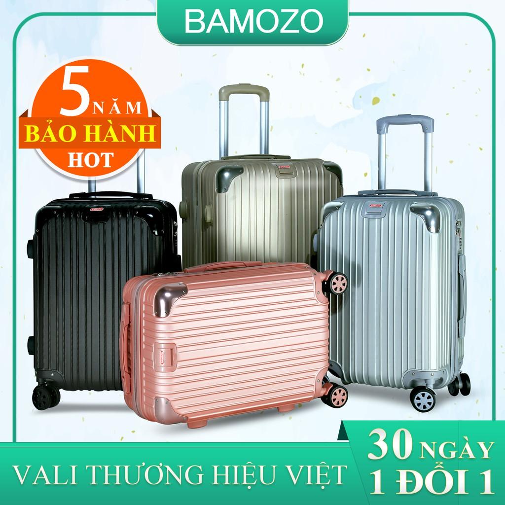 vali du lịch BAMOZO 8809 vali kéo nhựa size 20 inch size 24 inch