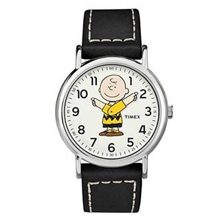 Đồng hồ Unisex Nam Nữ Timex Peanuts - Charlie Brown 38mm TW2T60900 - TW2T61000 Dây Da - Chính Hãng thumbnail