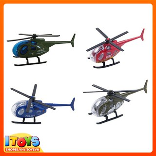 Trực thăng, Mô hình máy bay hợp kim mini mô phỏng máy bay cho trẻ em ITOYS