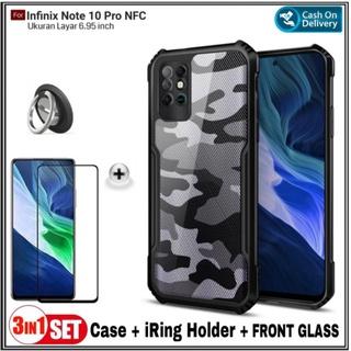 Ốp điện thoại kính cường lực cứng chống sốc có giá đỡ cho Infinix Note 10 Pro INFC thumbnail