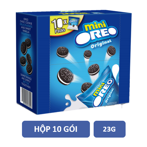 Lốc 10 gói Oreo mini vanilla 23g/gói