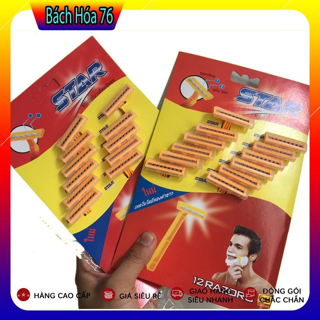 [SALES OFF] Combo Vĩ 24 Dao Cạo Râu Thái Lan STAR