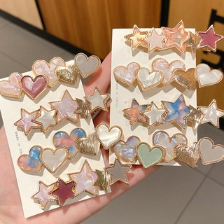 Heart Star Magic Metal Hairpins hair clips Hair accessory