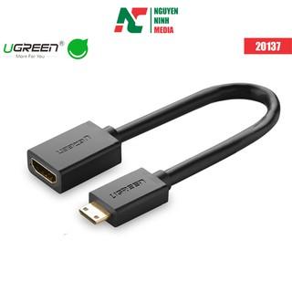 Cáp nối dài Mini HDMI to HDMI dài 20cm chính hãng Ugreen 20137