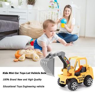 Set 6 mô hình xe cần cẩu xây dựng đồ chơi đẹp mắt kích thước 11*6cm cho trẻ em