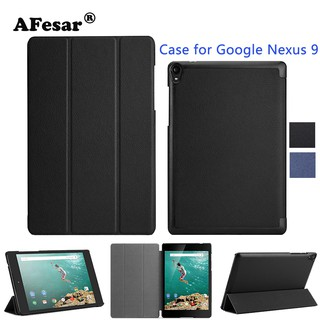 Flip Fold Case For Google Nexus 9 Tablet Ultra Slim Luxury Smart Stand PU Leather Cover Case Auto Sleep/Wake