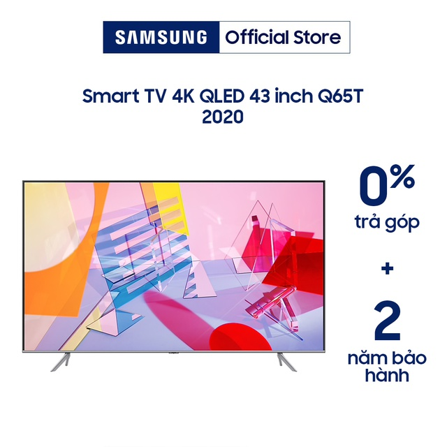 [Mã ELCEBF giảm 5% đơn 1TR5] Smart Tivi Samsung 43 inch QLED 4K QA43Q65TAKXXV