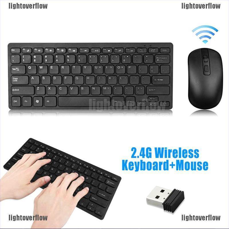 Bộ Bàn Phím + Chuột Không Dây 2.4ghz Cho Laptop Pc