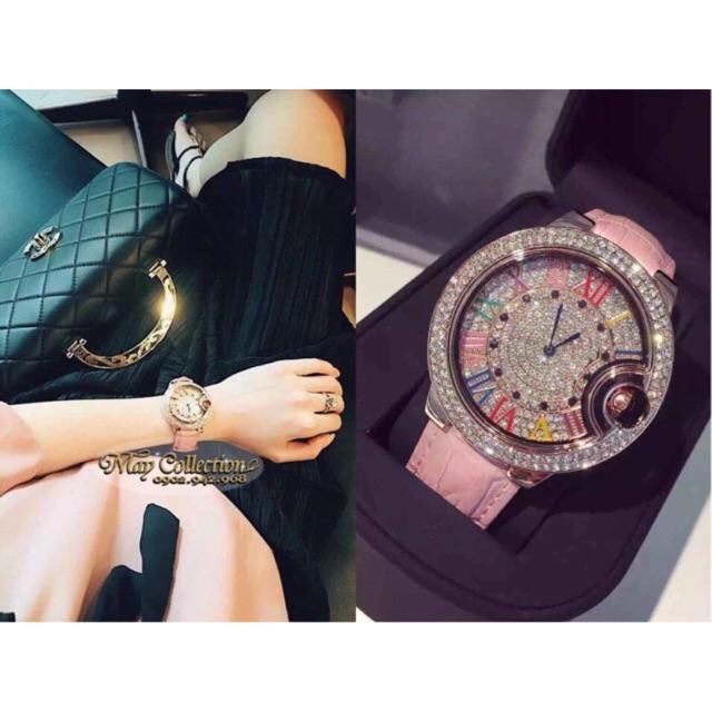 Đồng hồ nữ dây da cao cấp Mashali 9088 chính hãng