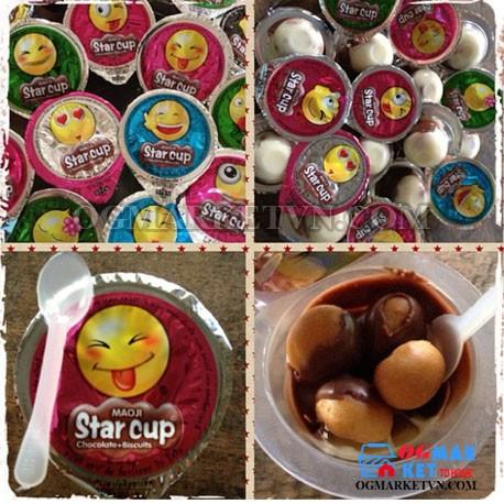 Bánh Quy socola viên Star cup- Thái Lan