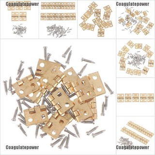 Coagulatepower 1:12 Dollhouse Miniature Fitment Material Metal Hinges And Screws For Mini Door