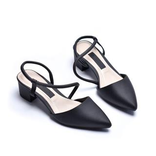 Giày sandal gót thấp họa tiết Merly 1047 thumbnail