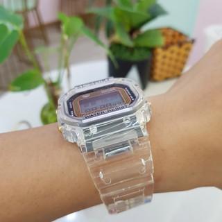 Đồng hồ thể thao điện tử nam nữ SL sport mặt vuông dây cao su trong cá tính chính hãng Tony Watch 68