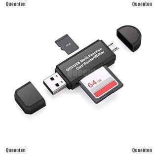 Thẻ nhớ USB2.0 OTG Micro USB 2 trong 1 cho PC/điện thoại/thẻ SD và TF