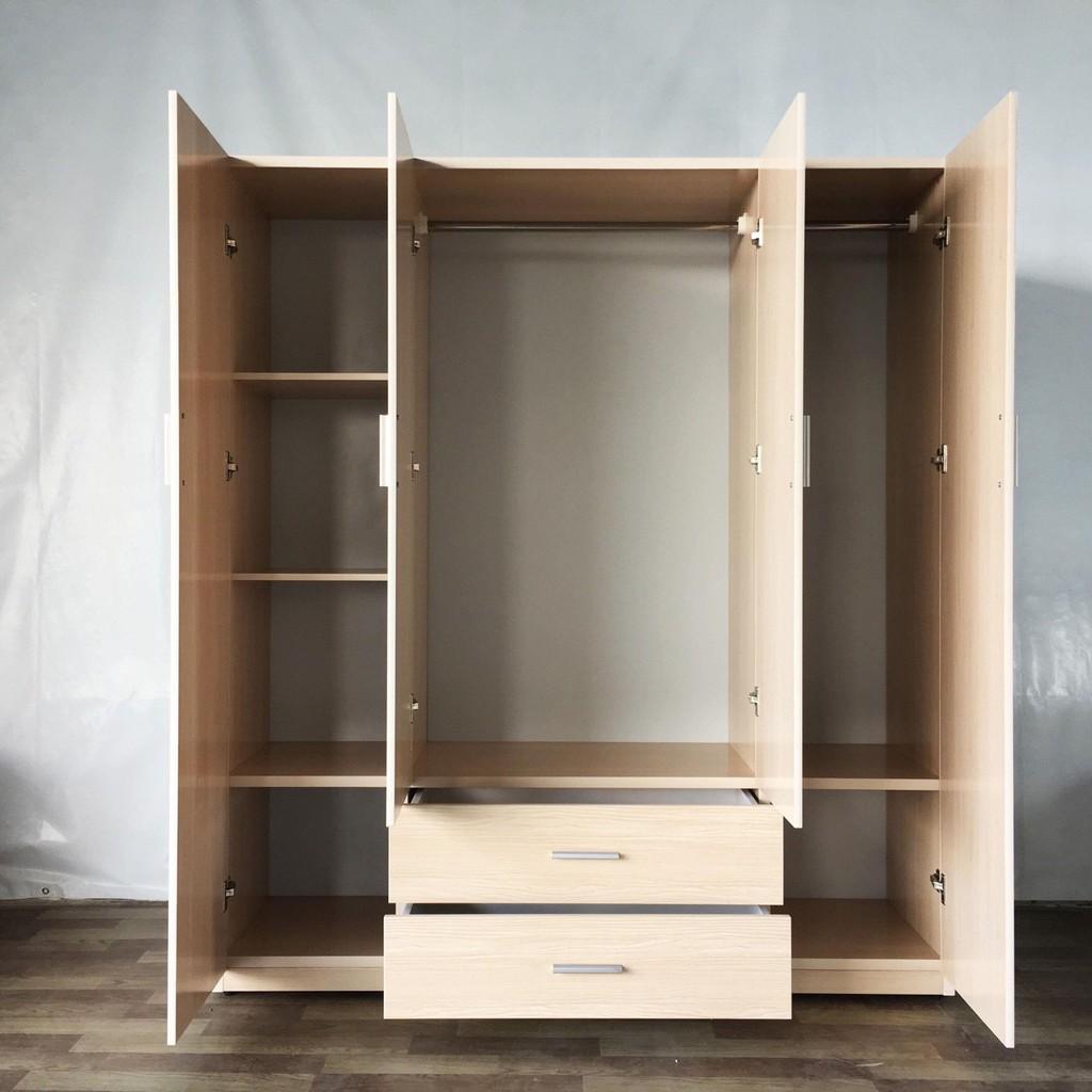 . [RẺ VÔ ĐỊCH ] Tủ Nhựa Đài Loan Gia Đình Cao Cấp: 185*165 Nội thất phòng ngủ