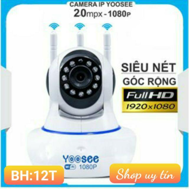 Camera wifi không dây xoay 360 độ trong nhà 2.0 mpx chính hãng yoosee - kèm thẻ nhớ 32G chính hãng [tùy chọn]