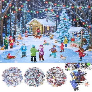 💍MELODG💍 1000 Pieces Kids Gift Xmas Cities Education Brain Snowman Jigsaw Christmas Puzzle New Decompress Toys Adults/KidsToy Home Decor Puzzle Game