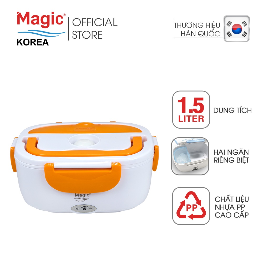 Hộp cơm điện hâm nóng Magic Korea A03 (Cam)