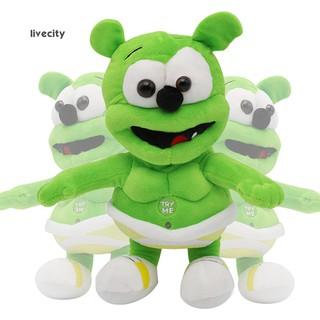 30cm Lovely Gummy Bear Music Doll Plush Stuffed Baby Sleep Appease Toy Gift